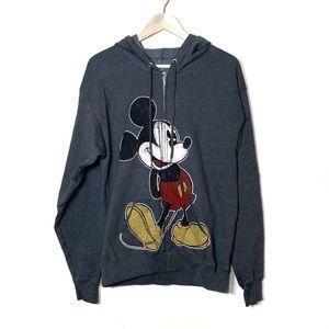 Disneyland Resort Gray Mickey Mouse Hoodie Hanes